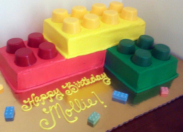 Girl Building Block Cake
