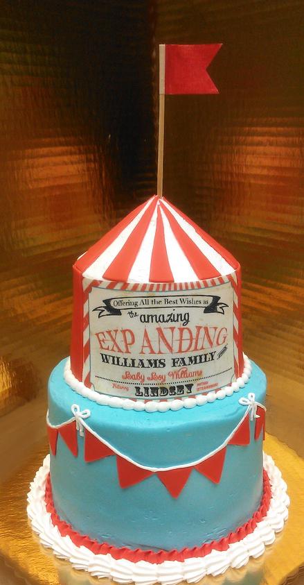Boy Sculpted Circus Theme Cake