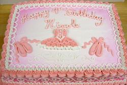 Girl Ballet Theme Cake