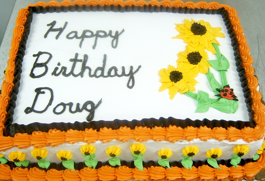 Adult Male Sunflower Cake