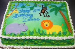 Boy Jungle Animal Cake