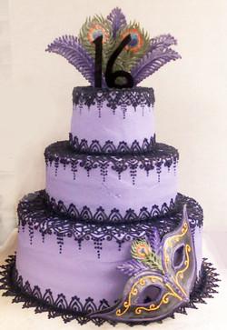 Girl Sweet Sixteen Elegant Cake