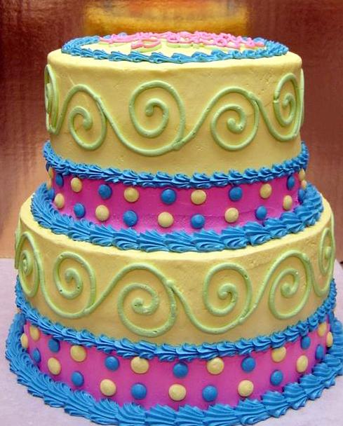 Girl Elegant Whimsical Cake