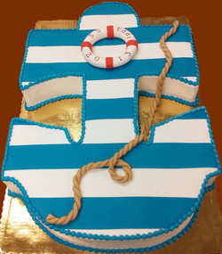 Adult Cutout Anchor Cake