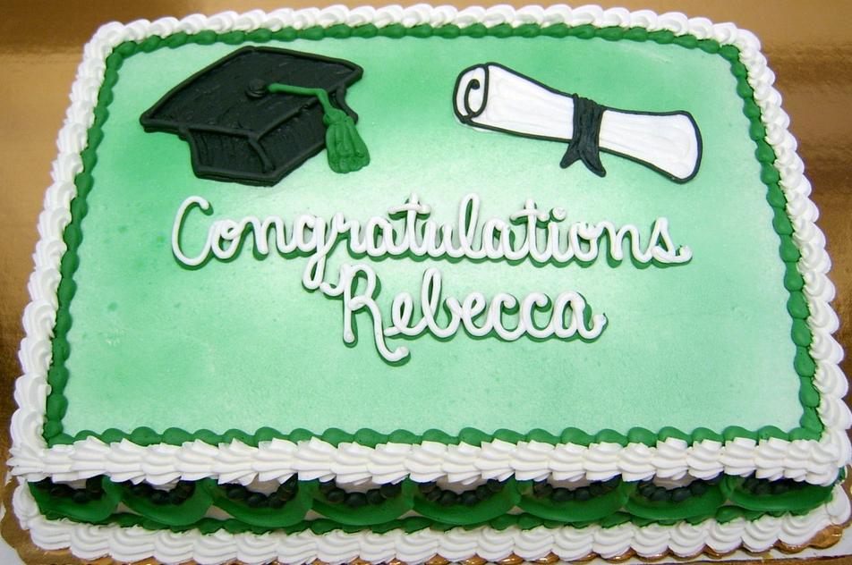 Graduation Cap and Scroll VI Cake