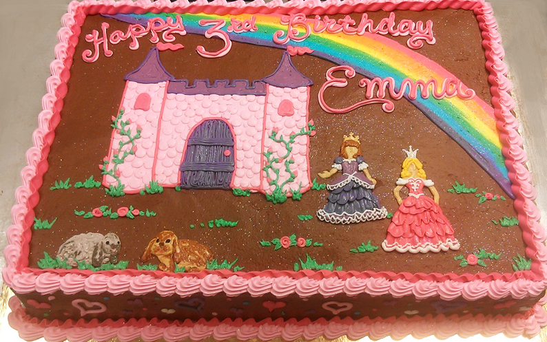 Girl Castle and Princess Cake