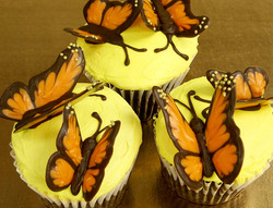 monarch butterfly cupcake