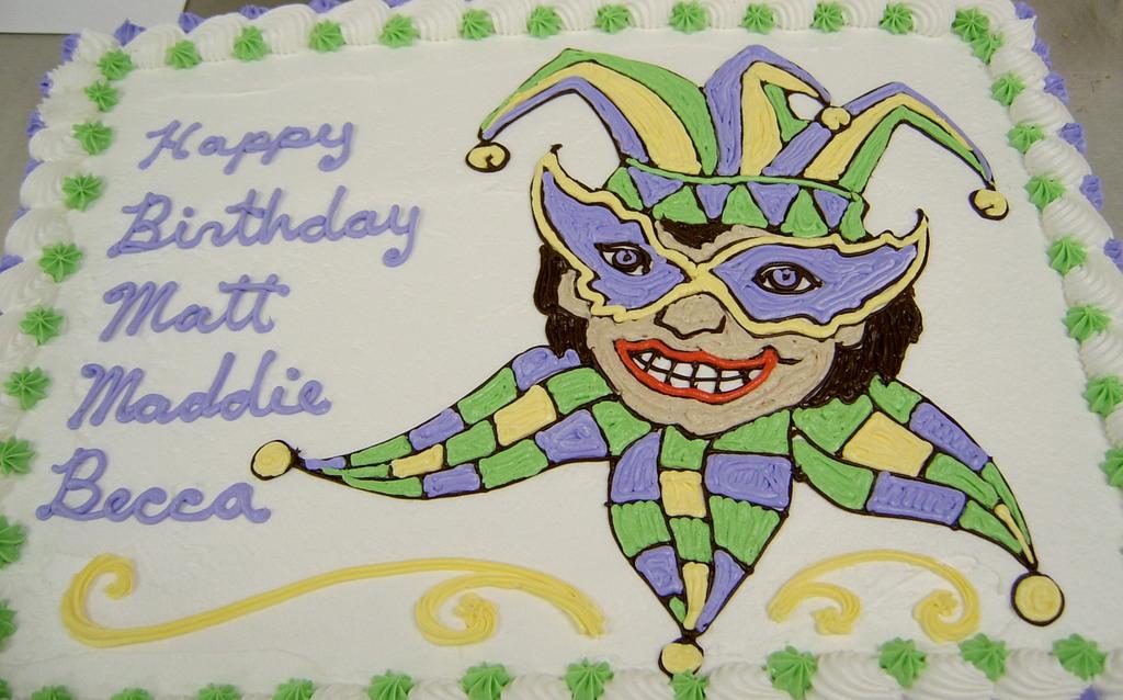 Girl Jester Theme Cake