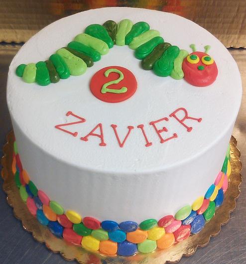 Boy Catapillar Cake