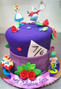 Girl Mad Hatter Cake