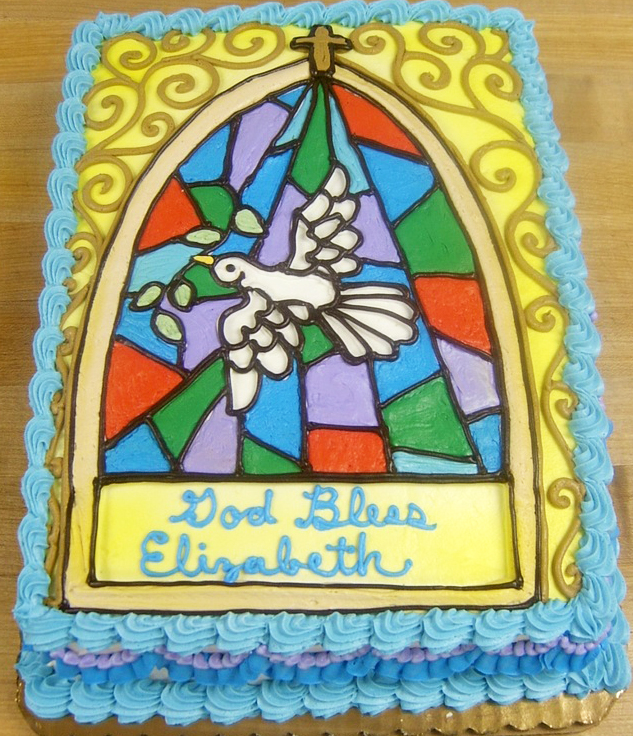 Religious Stained Glass Cake