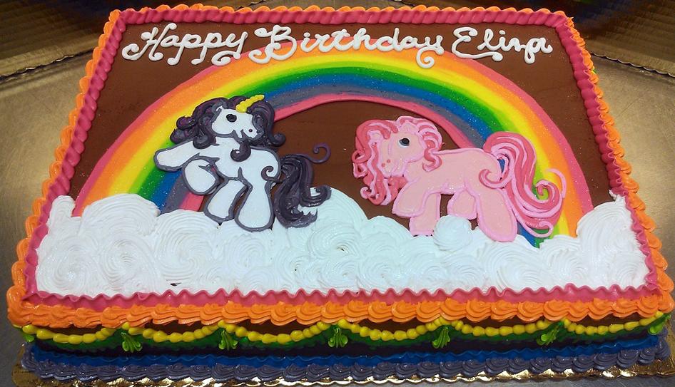 Girl Pony/Rainbow Cake