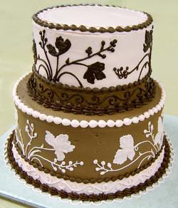 Reverse Image Wedding Cake