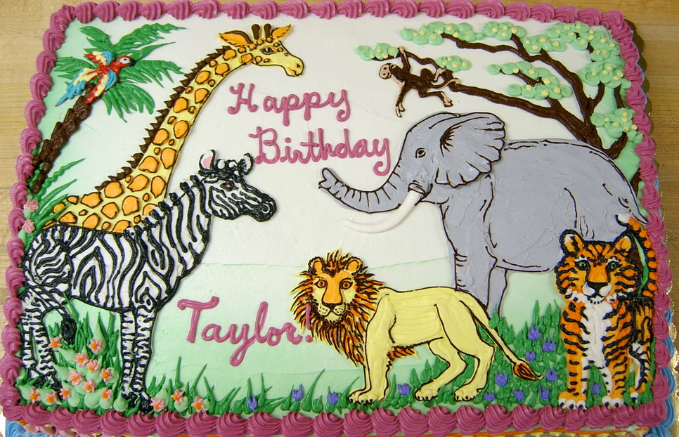 Boy Jungle Animal II Cake