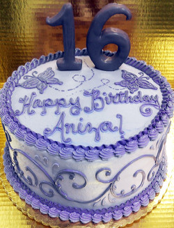Girl Sweet Sixteen Scroll Cake