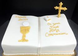 Religious Sculpted Book Cake
