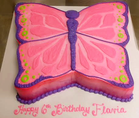 Girl Sculpted Butterfly Cake