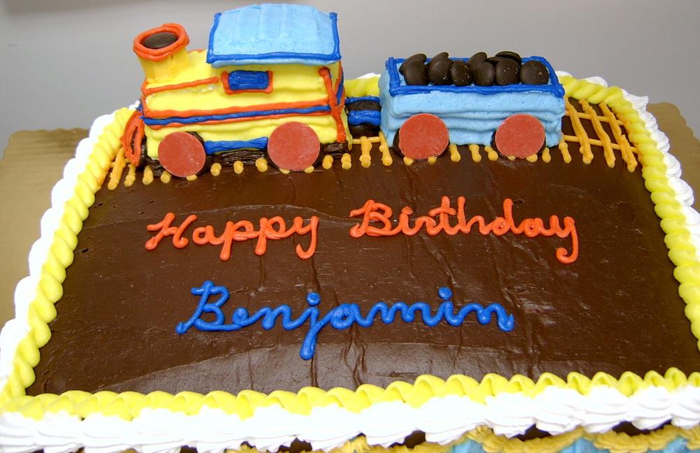 Boy Sculpted Train Cake