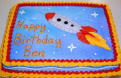 Boy Rocketship Theme II Cake