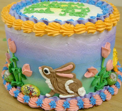 Easter decorated cake