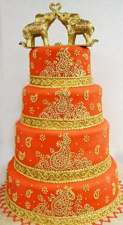 Indian Hanna Wedding Cake