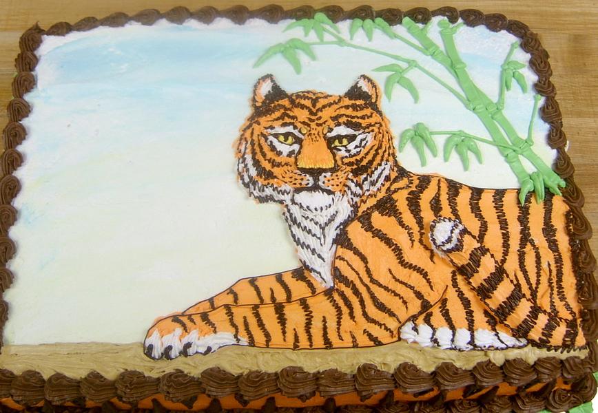 Boy Tiger Cake