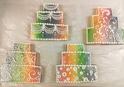 Wedding Cake Royal Iced Cookies