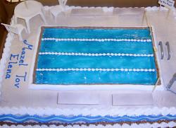 Sports Swimming Pool Cake