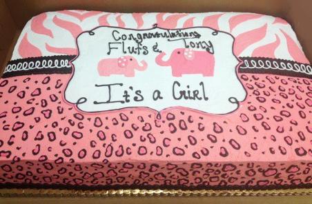 Baby Shower Pink Elephant Cake