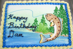 Adult Male Fishing Cake