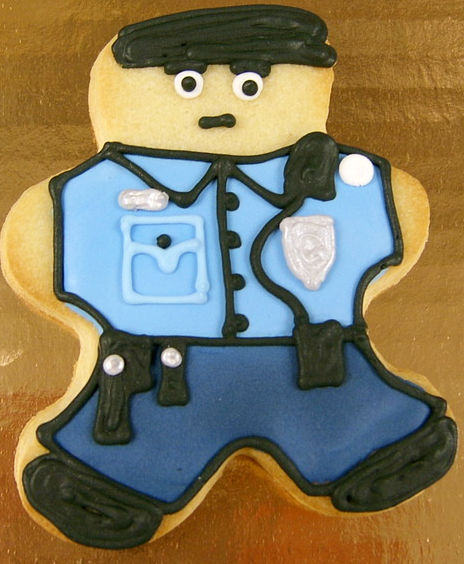 Policeman Royal Iced Cookies