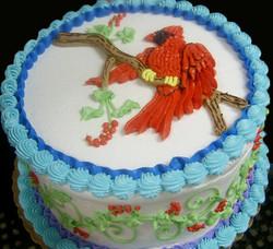 Girl Cardinal Cake