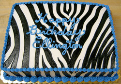 Girl Zebra Sheet Cake