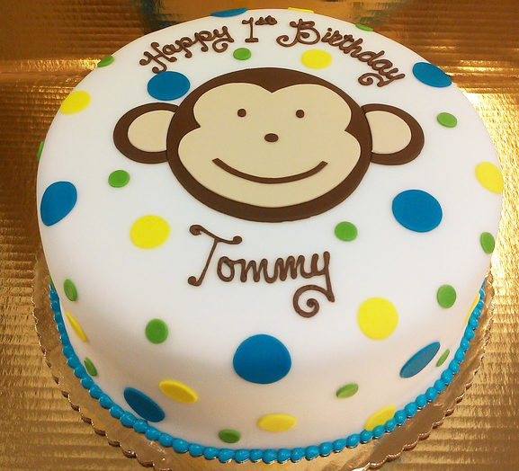 Boy Monkey II Cake