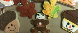 Fall Acorn & Leaf Royal Iced Cookies