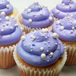 purple bubbles cupcake