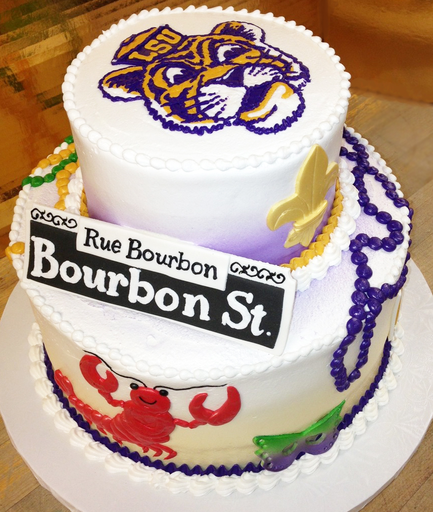 Adult Louisiana Theme Cake