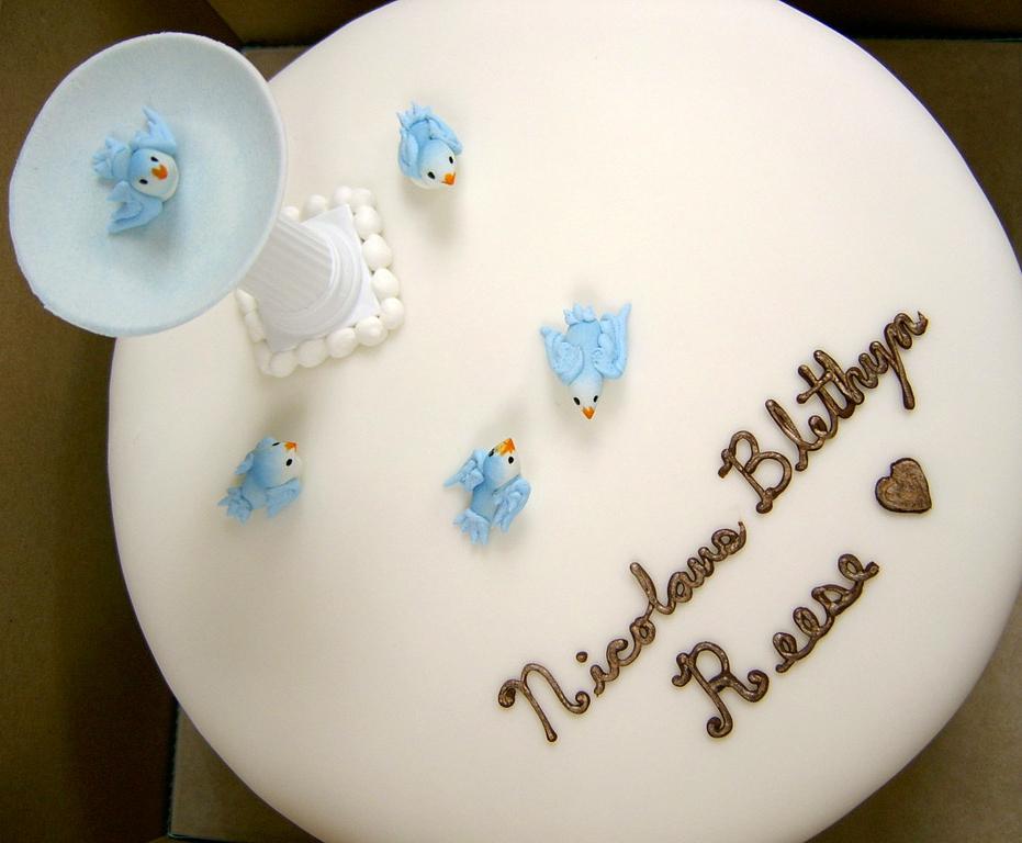 Baby Shower Bird Bath Cake