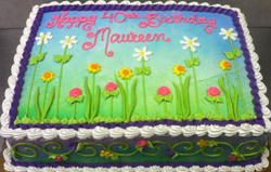 Adult Female Spring Flowers Cake