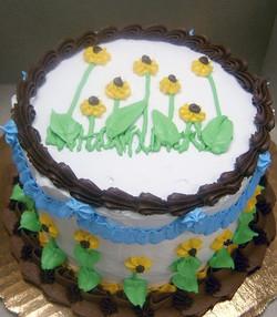 Adult Wild Flower Cake