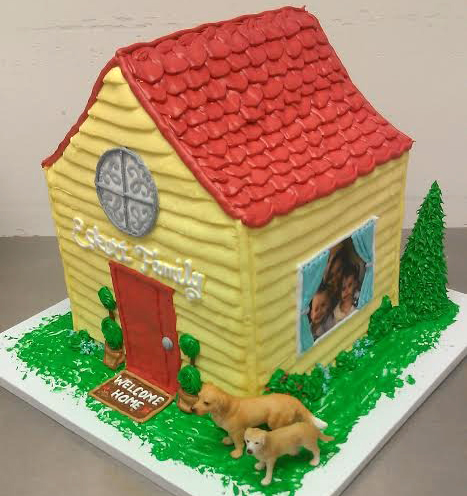 Adult Sculpted House Cake
