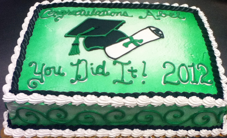 Graduation Cap and Scroll III Cake
