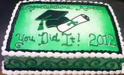 Graduation Cap and Scroll III Cake