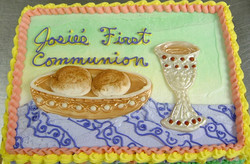 Religious Host and Chalice Cake