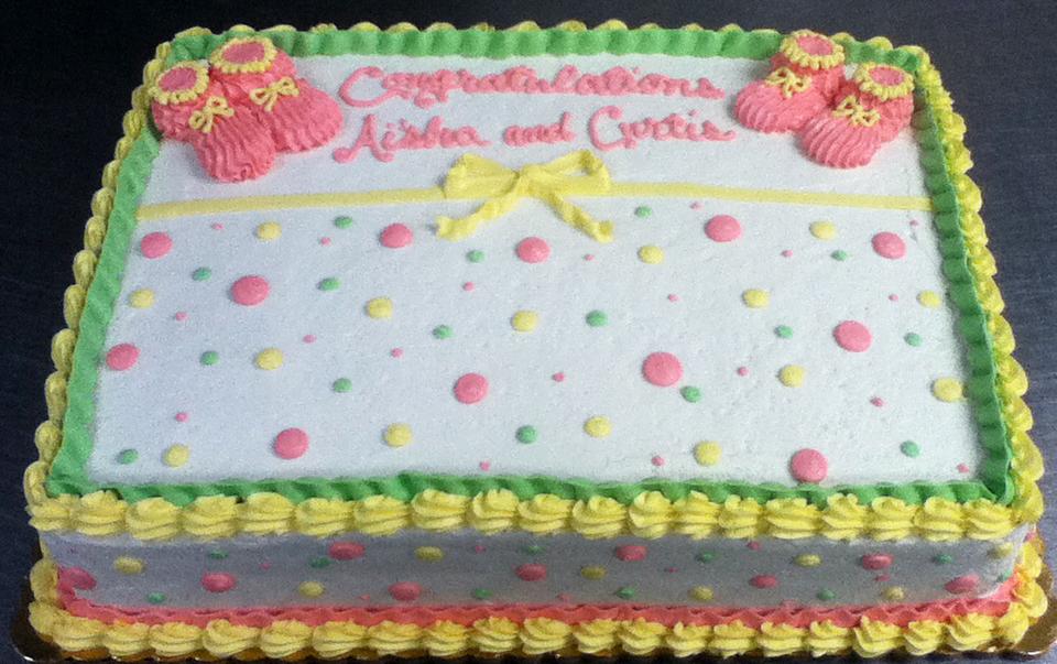Baby Shower Baby Bootie Cake