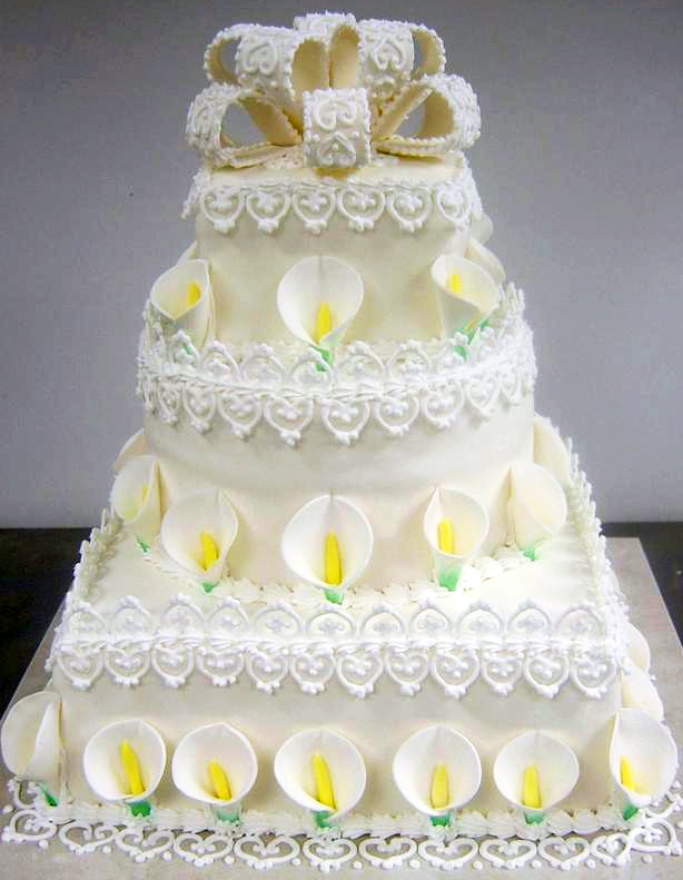 Calla Lily Wedding Cake