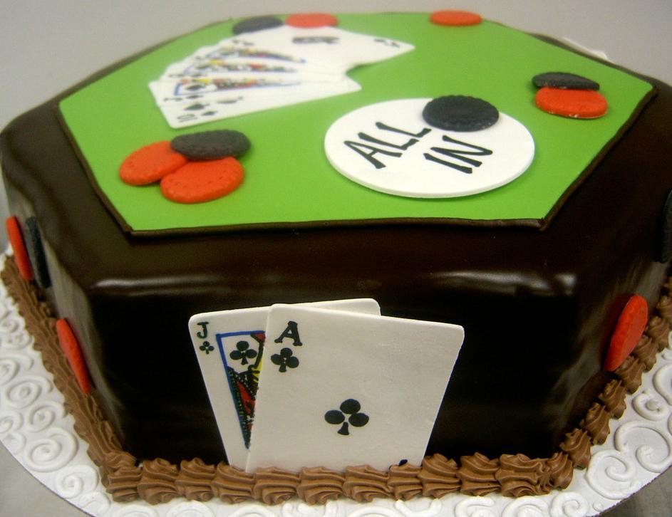 Adult Poker Cake
