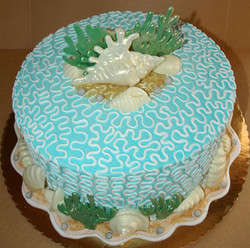 Adult Filigree Seashell Cake