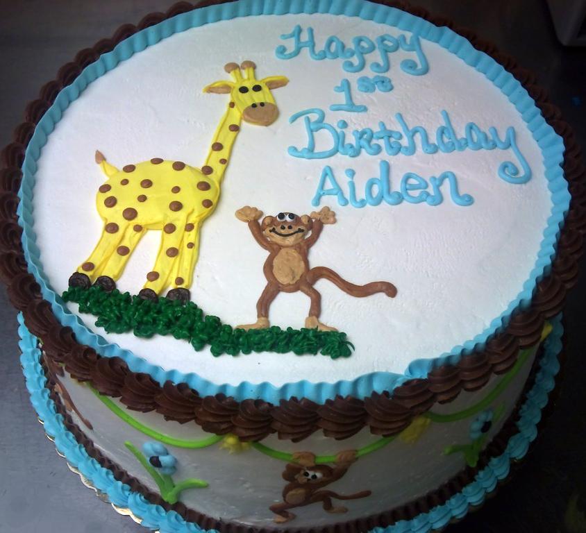Boy Jungle Animal IV Cake