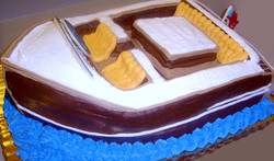 Adult Sculpted Boat Cake